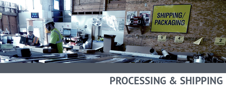 PROCESSING & SHIPPING